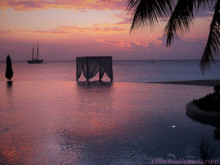 モルディブの夕日